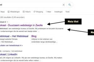 Meta titel en beschrijving WordPress SEO