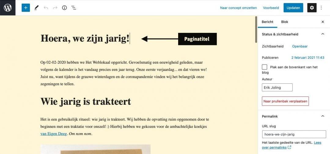 Paginatitel WordPress SEO