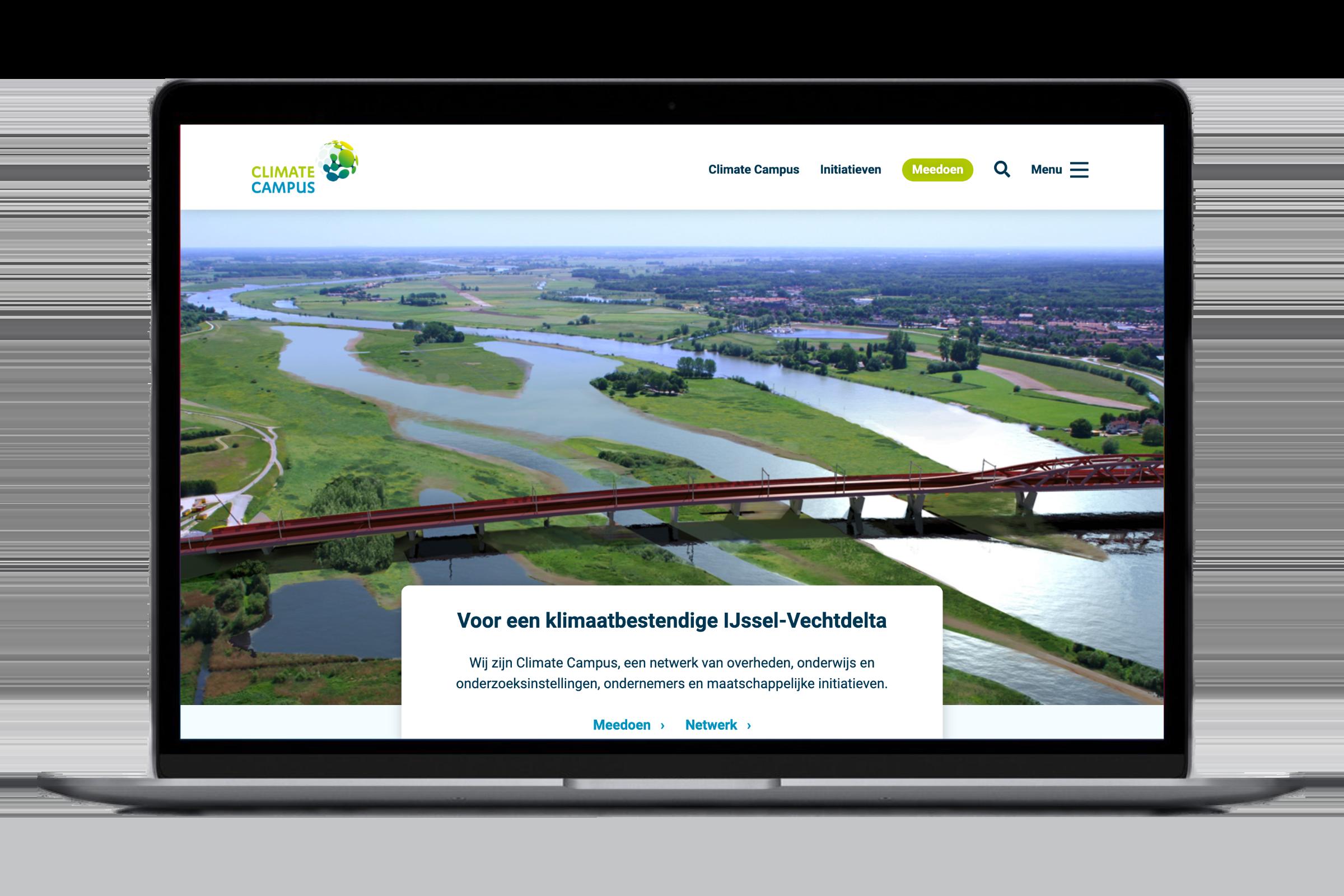 Website Climate Campus, ontwerp en bouw door Het Weblokaal